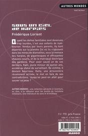 Sous un ciel de harpies - 4ème de couverture - Format classique