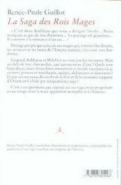 La saga des rois mages ; la fève et la couronne - 4ème de couverture - Format classique