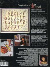 Broderies d'art mural ; abécédaire - 4ème de couverture - Format classique