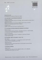 Revue Extreme Orient Extreme Occident T.23 ; La Coutume Et La Norme En Chine Et Au Japon - 4ème de couverture - Format classique