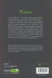 Pixies - 4ème de couverture - Format classique