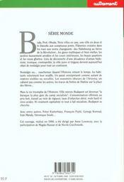 Revue Monde N.34 ; Budapest ; Danube Blues - 4ème de couverture - Format classique