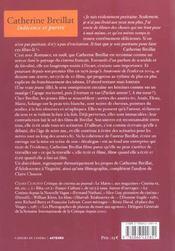 Catherine Breillat ; indécence et pureté - 4ème de couverture - Format classique