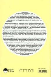 Guide Pratique De L'Antiseptie Et De La Desinfection - 4ème de couverture - Format classique