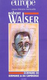 Europe Robert Walser N 889 Mai 2003 Avec Dossier Litterature Du Cambodge Et De B - Intérieur - Format classique