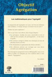 Objectif agrégation (2e édition) - 4ème de couverture - Format classique