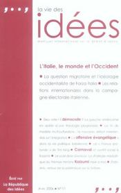 Vie Des Idees. Avril 2006 (La) - Intérieur - Format classique