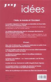 Vie Des Idees. Avril 2006 (La) - 4ème de couverture - Format classique