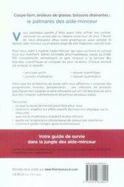 Guide Conseil A Tout Les Aide-Mainceur - 4ème de couverture - Format classique