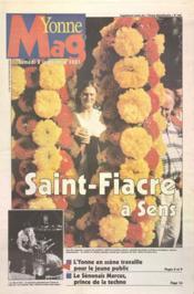 Yonne Mag N°780 du 08/09/2001 - Couverture - Format classique