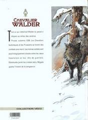 Chevalier Walder t.2 ; au bout de l'enfer - 4ème de couverture - Format classique