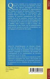 Regions Naturelles Et Noms De Pays - 4ème de couverture - Format classique