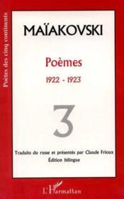 Poemes T.3 ; 1922-1923 - Couverture - Format classique