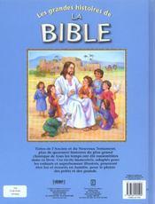 Les grandes histoires de la bible - 4ème de couverture - Format classique