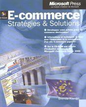 E-Commerce ; Strategies Et Solutions - Intérieur - Format classique