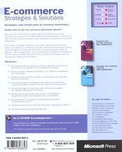 E-Commerce ; Strategies Et Solutions - 4ème de couverture - Format classique