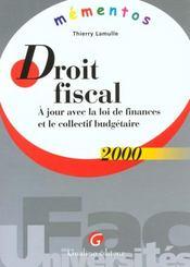 Memento Droit Fiscal 2000 - Intérieur - Format classique