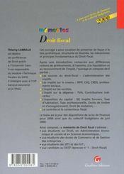Memento Droit Fiscal 2000 - 4ème de couverture - Format classique
