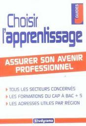 Choisir L'Apprentissage - Intérieur - Format classique
