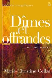 Dimes Et Offrandes - Couverture - Format classique