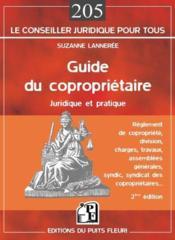 Guide du coproprietaire. juridique et pratique. reglement decopropriete, division, charges, travaux - Couverture - Format classique