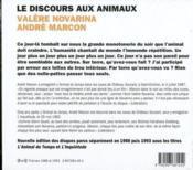 Discours aux animaux t.1 et t.2 ; l'animal du temps ; l'inquiétude - 4ème de couverture - Format classique