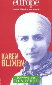 Europe Karen Blixen 887 Mars 2003 - Intérieur - Format classique