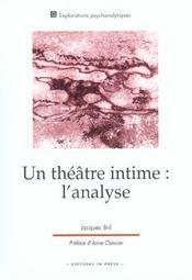 Un Theatre Intime ; L'Analyse - Intérieur - Format classique
