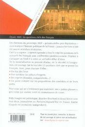 Elysée 2007: Les questions clefs des Français - 4ème de couverture - Format classique