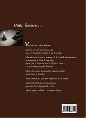 Haiti, Lumieres ... - 4ème de couverture - Format classique