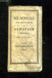 Memorial Dramatique Ou Almanach Theatral Pour L An 1815. - Couverture - Format classique
