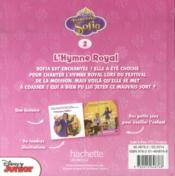 Princesse Sofia t.2 ; l'hymne royal - 4ème de couverture - Format classique