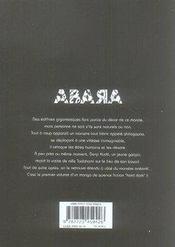 Abara t.1 - 4ème de couverture - Format classique