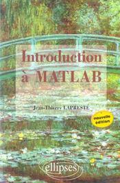 Introduction a matlab nouvelle edition - Intérieur - Format classique