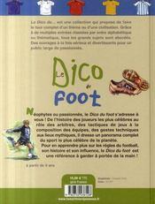 Le dico du foot - 4ème de couverture - Format classique