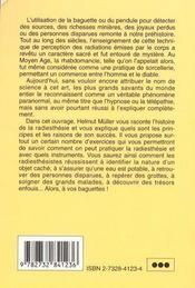 Pratique De La Radiesthesie - 4ème de couverture - Format classique