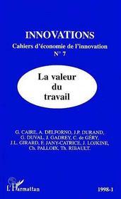 La Valeur Du Travail - Innovations N°7 1998-1 - Couverture - Format classique