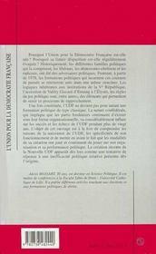 L'Union Pour La Democratie Francaise - 4ème de couverture - Format classique