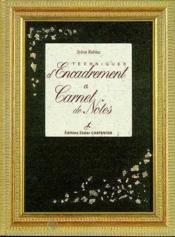 Techniques D'Encadrement Et Carnet De Notes - Couverture - Format classique