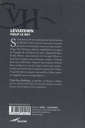 Leviatown - 4ème de couverture - Format classique