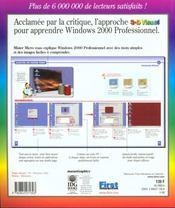 Windows 2000 Professionnel C'Est Simple - 4ème de couverture - Format classique