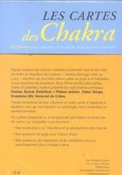 Coffret Cartes Des Chakra - 4ème de couverture - Format classique