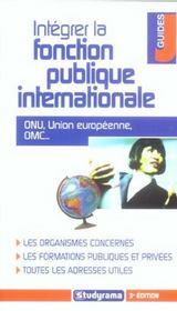 Integrer la fonction publique internationale - Intérieur - Format classique