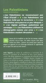 Les palestiniens - 4ème de couverture - Format classique