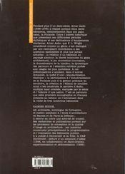Alvar Aalto - 4ème de couverture - Format classique