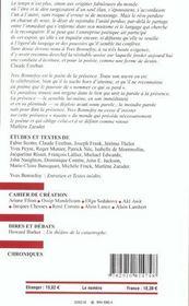 Euro Yves Bonnefoy N 890 891 Juin Juillet 2003 - 4ème de couverture - Format classique