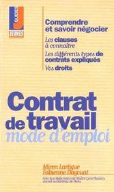 Contrat de travail -Mode d'emploi - Intérieur - Format classique