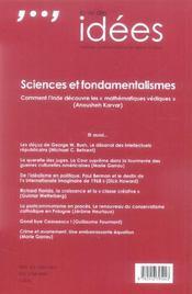 La Vie Des Idees.13 Juin 2006 - 4ème de couverture - Format classique