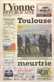 Yonne Republicaine (L') N°220 du 22/09/2001 - Couverture - Format classique