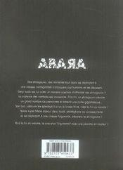 Abara t.2 - 4ème de couverture - Format classique